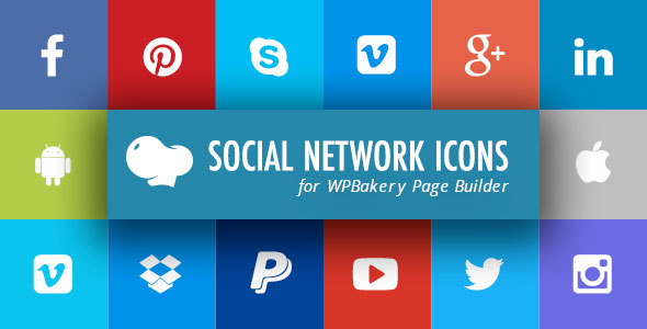 Social Network Icons for WPBakery Page Builder (Visual Composer) - CodeCanyon Item for Sale