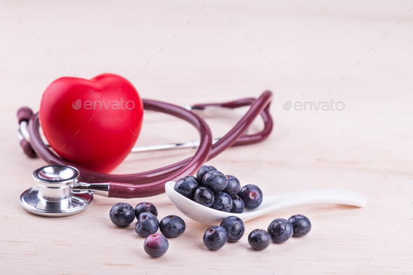 Blueberries rich in anti-oxidants and flavonoid anthocyanin has - Stock Photo - Images