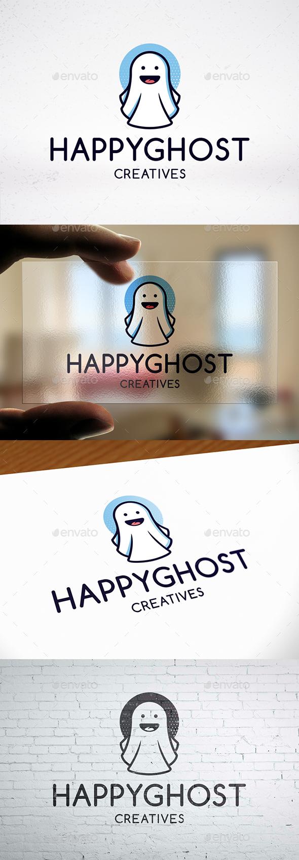 GraphicRiver Halloween Ghost Logo Design 20890181