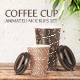 Coffee Cup Animated Mockups Set