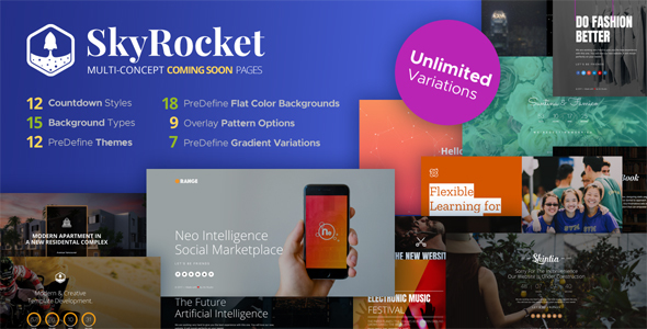 SkyRocket – MultiConcept Coming Soon Pages            nulled
