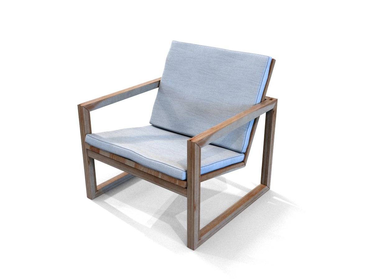 Poltrona Lounge Wooden Chair