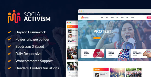 ThemeForest Social Activism Non-Government Organization WordPress Theme 20762722