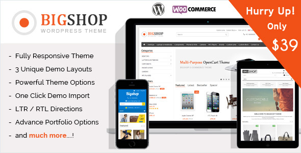 The Bigshop - WooCommerce WordPress Theme! - WooCommerce eCommerce