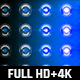 120 Flashing Light Full HD and 4K Blue Glow Loop Footages/ Cold Award Led Light Stage Backgrounds - VideoHive Item for Sale
