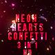 Neon Heart Confetti - VideoHive Item for Sale