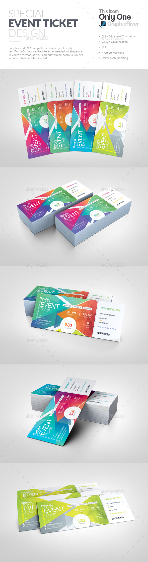 GraphicRiver Event Ticket 20890597