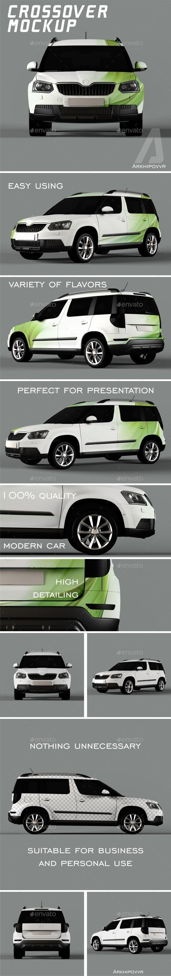Crossover mockup - Product Mock-Ups Graphics