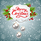 Christmas Banner with Green Fir Branch - GraphicRiver Item for Sale