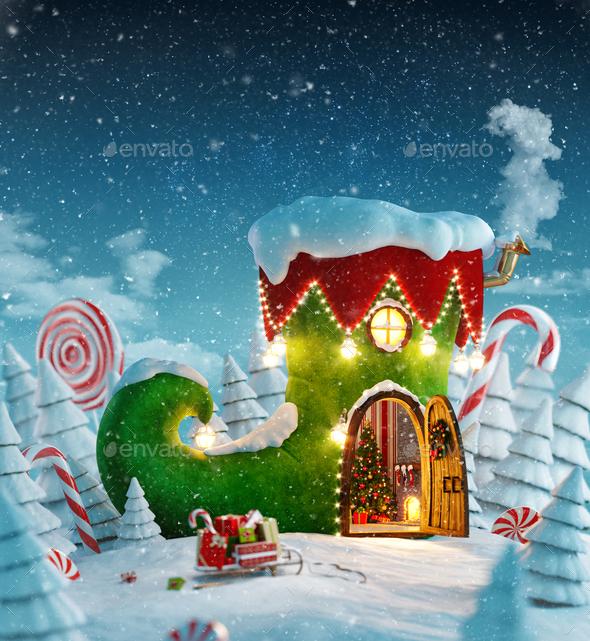 Amazing fairy house - Stock Photo - Images
