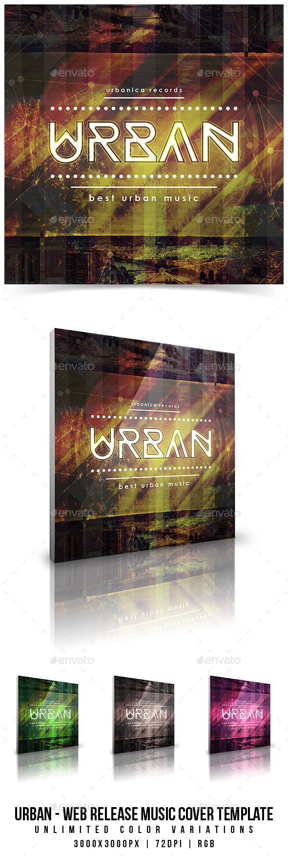 Urban - Web Release Music Cover Template - Miscellaneous Social Media