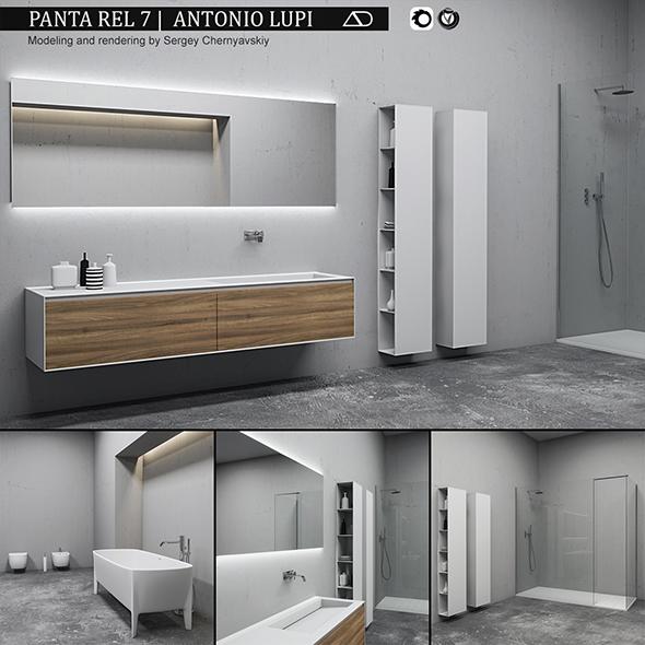 3DOcean Bathroom furniture set Panta Rel 7 20890924