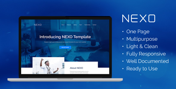 NEXO – Multipurpose One Page HTML5 Template - Business Corporate