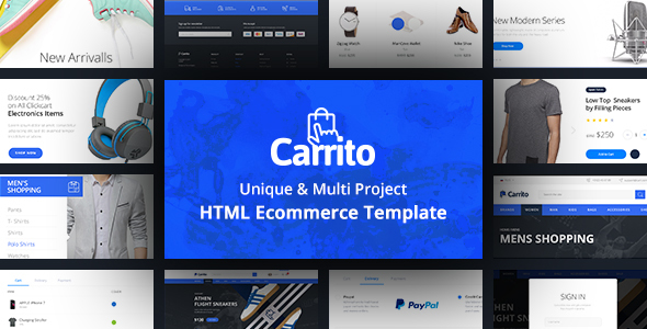 ThemeForest Carrito Bootstrap 4 Ecommerce Template 20891112