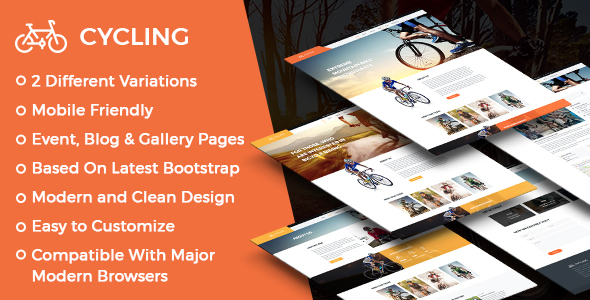 ThemeForest Cycling Multipurpose Responsive HTML Template 20829958