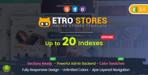 Download EtroStore - Responsive Multipurpose eCommerce Shopify Theme            nulled nulled version