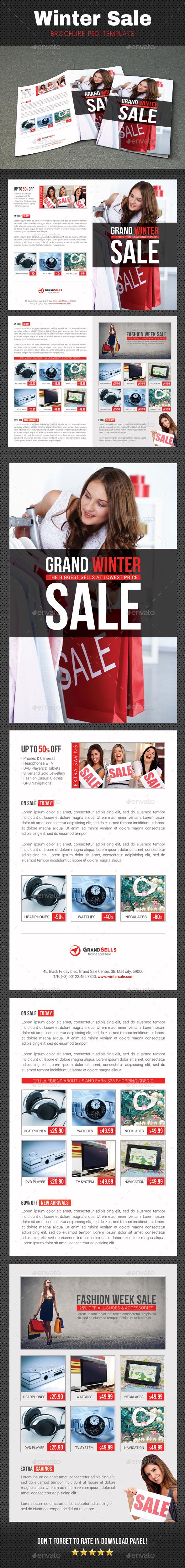 Winter Sale Brochure - Brochures Print Templates