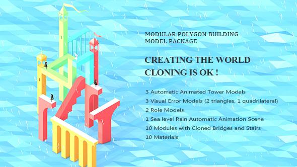 3DOcean Modular Polygon Building Model Package 20891259
