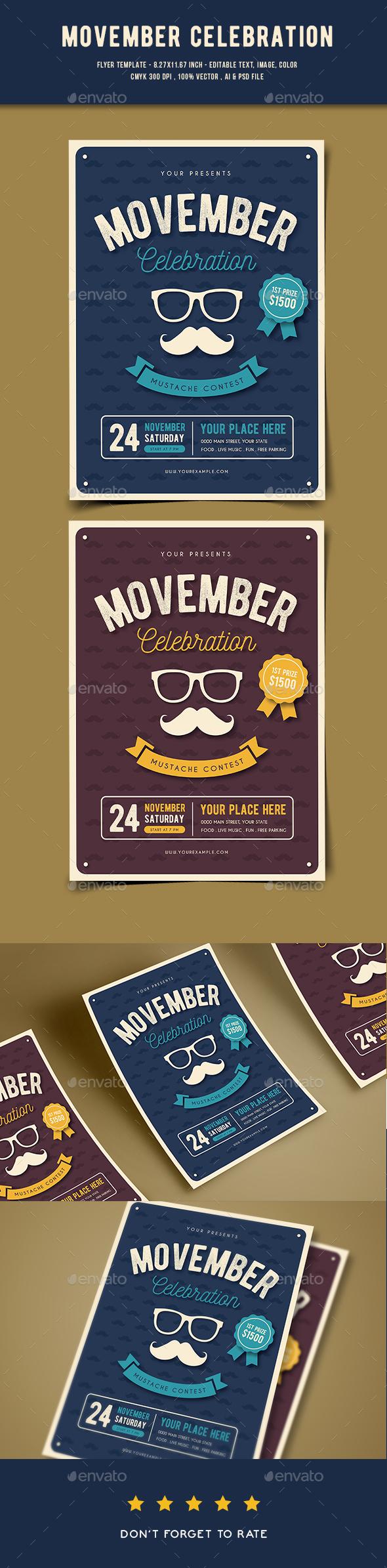 GraphicRiver Movember Flyer 20891265