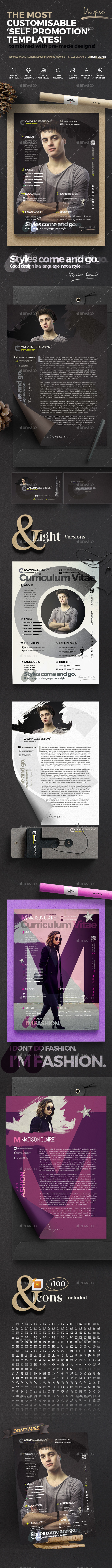 The Curriculum Vitae - Self Promotion Templates - Resumes Stationery