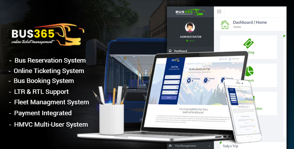 Bus365 - Bus Reservation System with Website - CodeCanyon Item for Sale