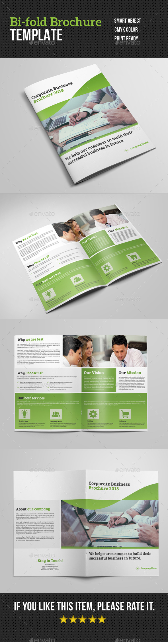 GraphicRiver Corporate Bi-fold Brochure 20891404