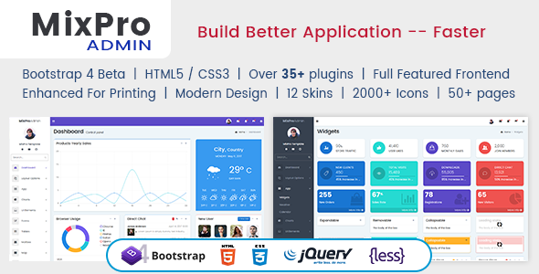 ThemeForest MixPro Admin Responsive Bootstrap 4 Admin Dashboard Template 20891534