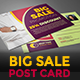 Big Sale Post Card - GraphicRiver Item for Sale