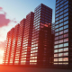 Skyscrapers at Sunset - VideoHive Item for Sale