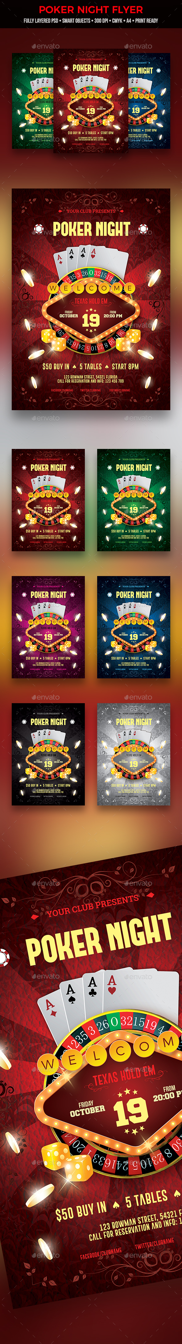 GraphicRiver Poker Night Flyer 20891999