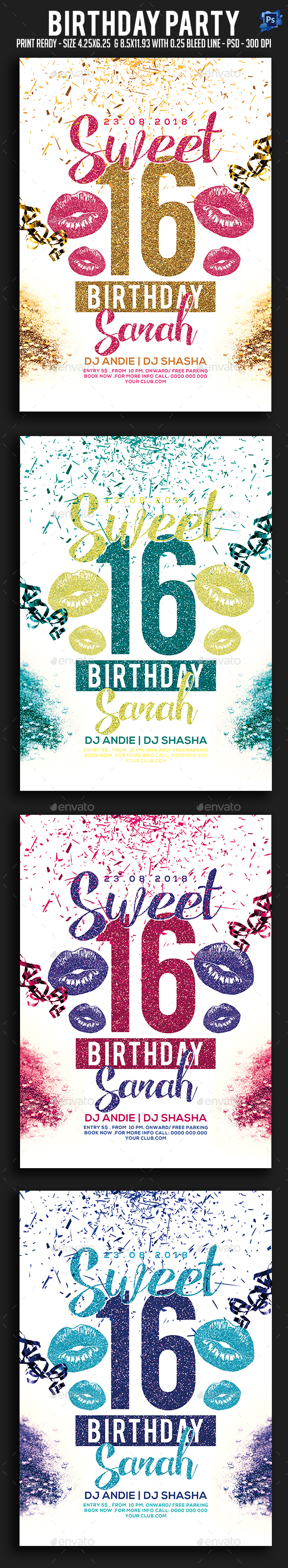 Birthday Party Flyer - Holidays Events