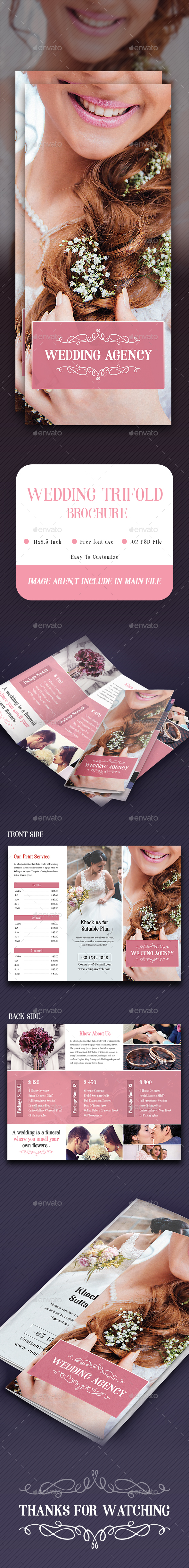 Wedding Photography Trifold - Brochures Print Templates