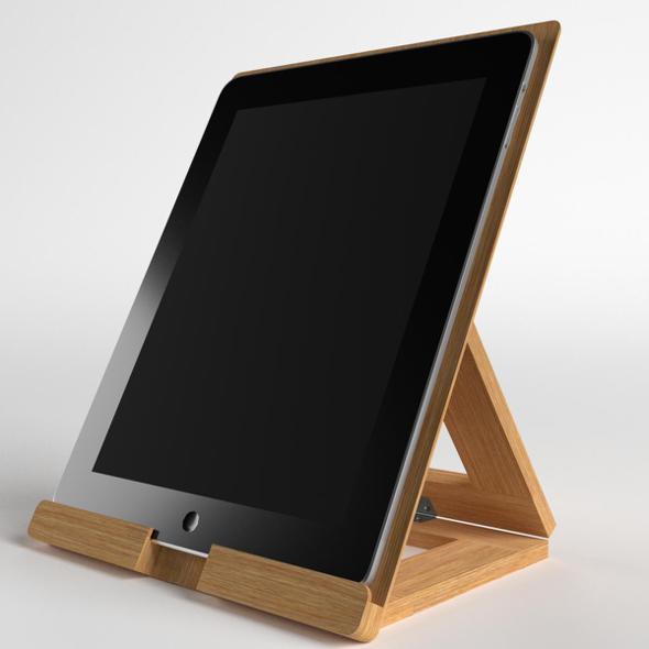 Tablet on desktop stand - 3DOcean Item for Sale