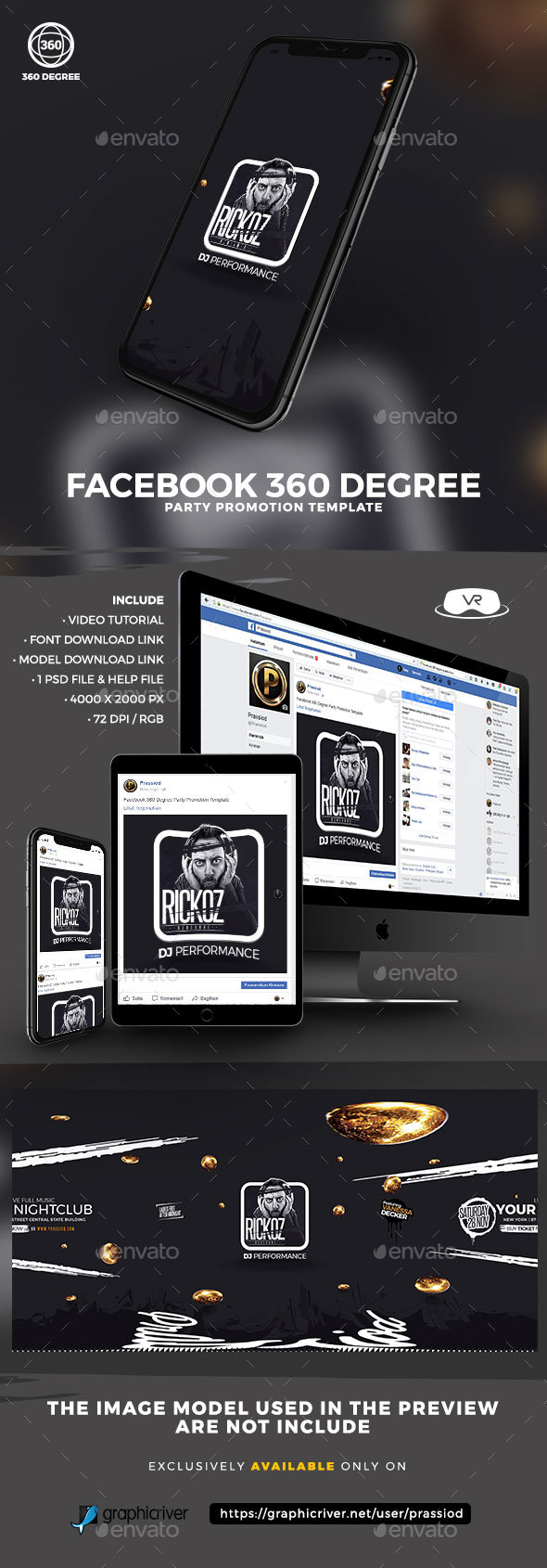 Facebook 360 Degree Party Promotion Template - Miscellaneous Social Media