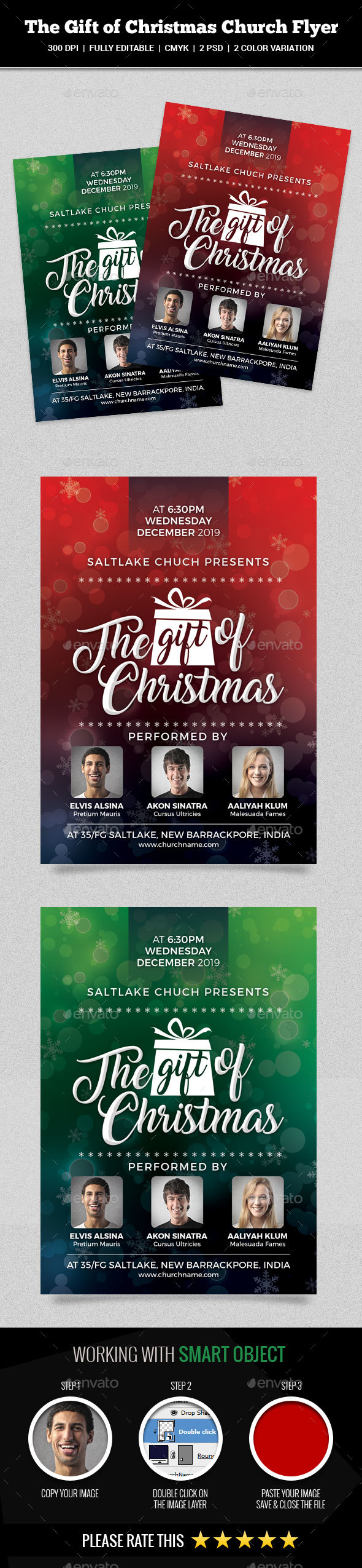 Gift of Christmas Church Flyer - Church Flyers