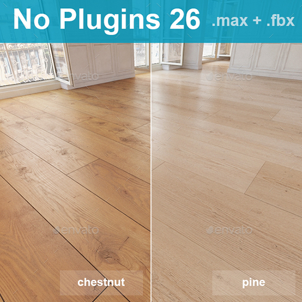 3DOcean Wood Floor Planks chestnut 20892531