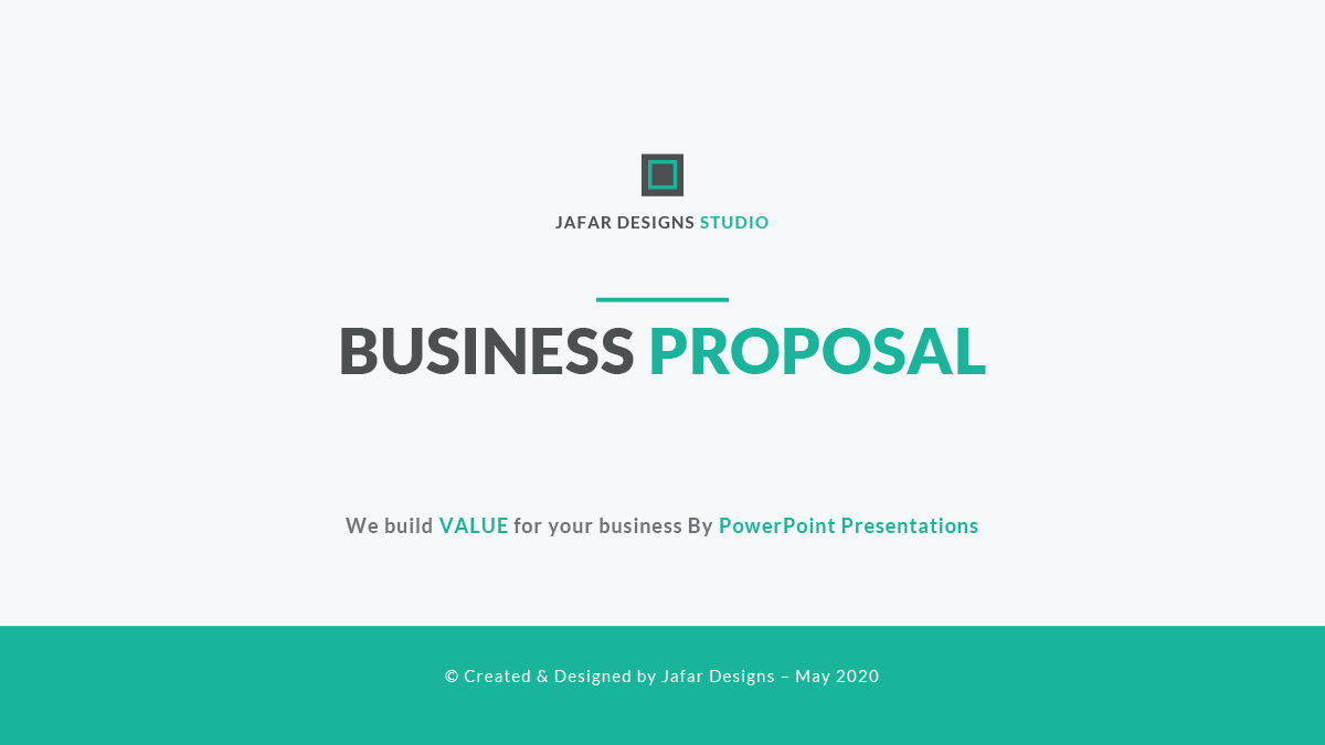 business proposal powerpoint templatejafardesigns | graphicriver, Powerpoint templates