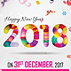 Happy New Year Flyer 2018 - GraphicRiver Item for Sale