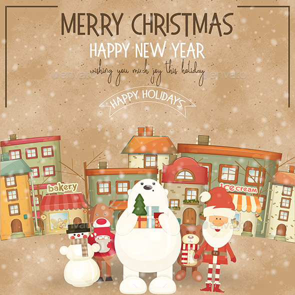 GraphicRiver Merry Christmas Greeting Card 20892817