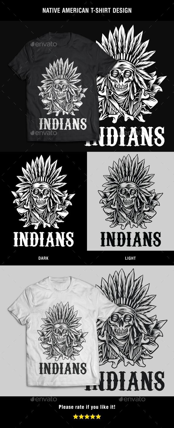 GraphicRiver Native American T-Shirt Design 20892971