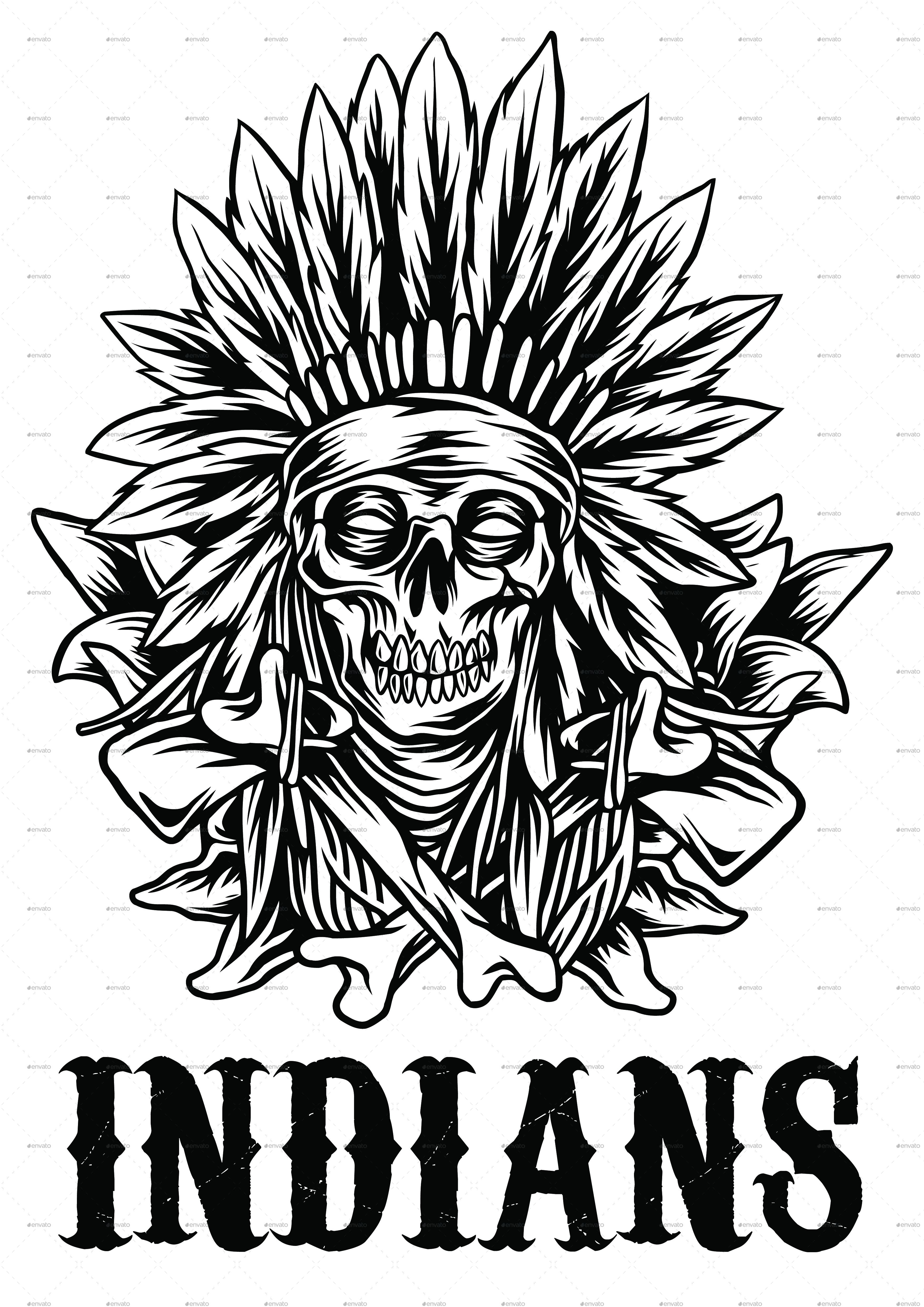 native american t shirt design by zulfikarilyas