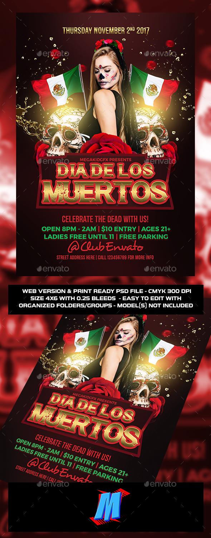 GraphicRiver Dia De Los Muertos Flyer Template 20893100