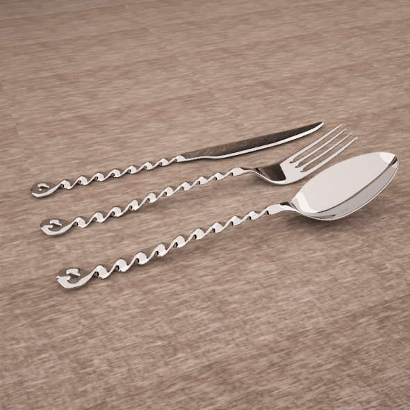 Flatware Heart - 3DOcean Item for Sale