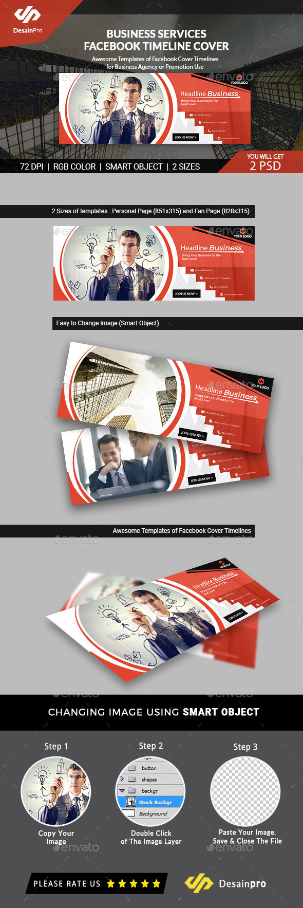 Business Corporate FB Cover Template - AR - Facebook Timeline Covers Social Media