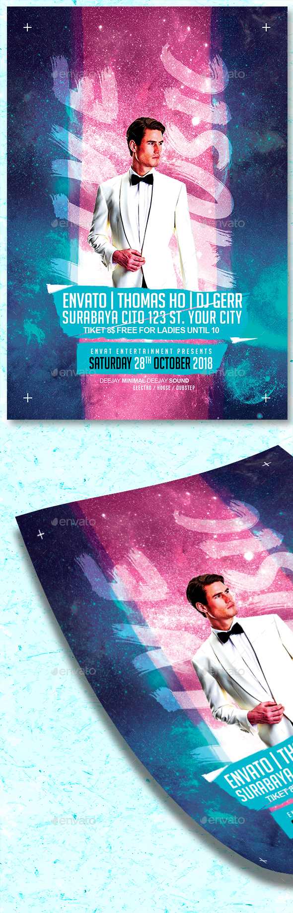 GraphicRiver Live Music Flyer 20893532