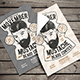 Vintage Hipster Barbershop Flyer - GraphicRiver Item for Sale