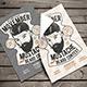 Vintage Hipster Barbershop Flyer - GraphicRiver Item for Sale
