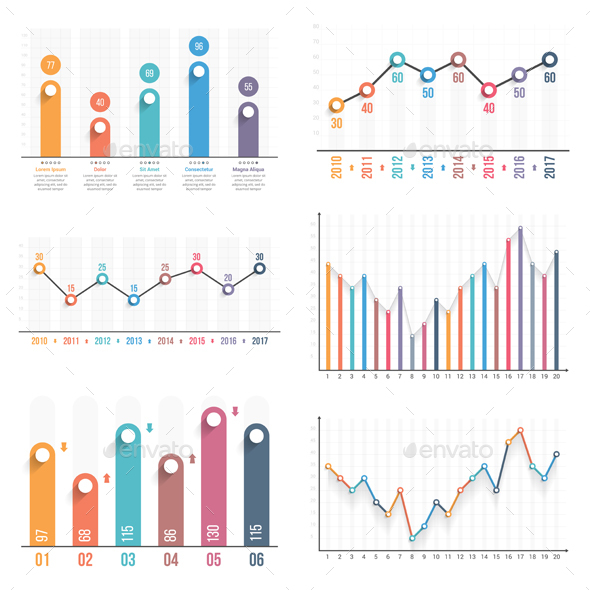 Bar and Line Charts - Infographics