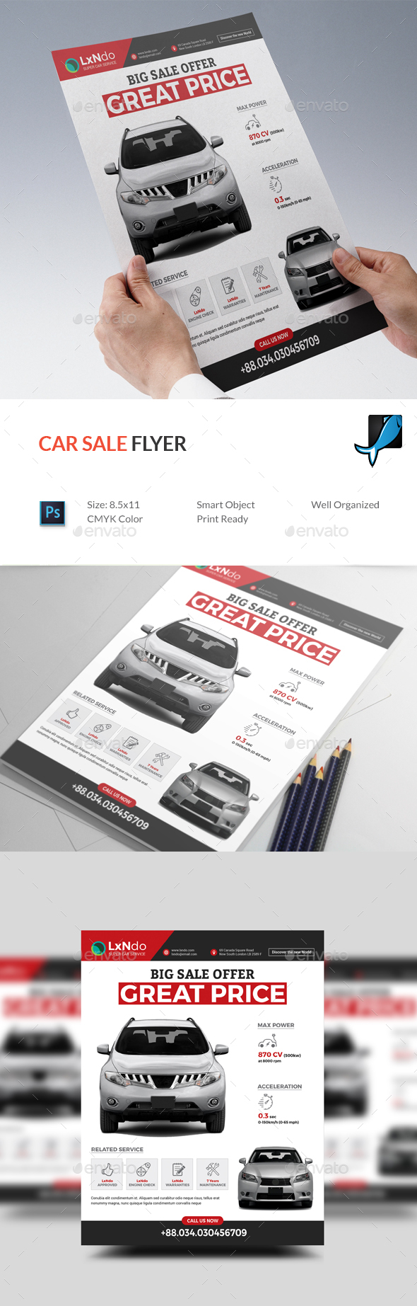 GraphicRiver Car Sale Flyer 20893736