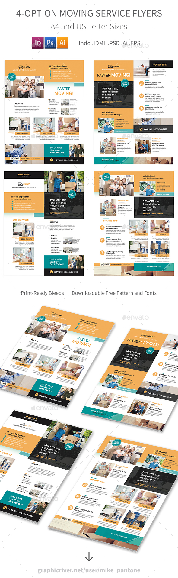 GraphicRiver Moving Service Flyers 2 4 Options 20893787